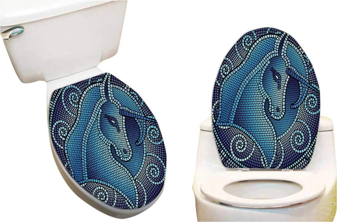 e5e5b760c009 Amazon.com: Toilet seat Sticker Ballerina Dancing with a Dinosaur ...