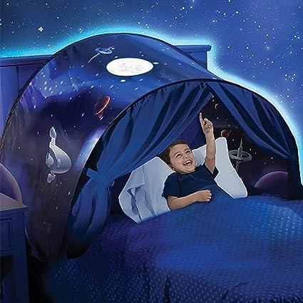 Dream Tents Magical World Carpa de Ensueño Wizard World Children Play Cama Tienda de Campaña Para Niños Fantasy House (Aventura espacial)