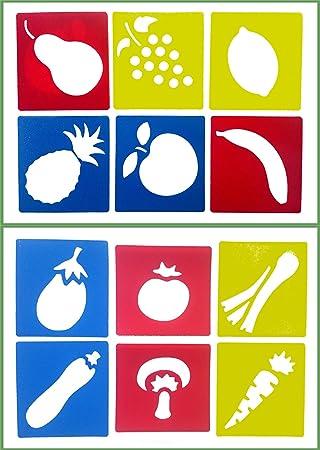 amazon co jp fruit ai life 12pcs plastic drawing painting
