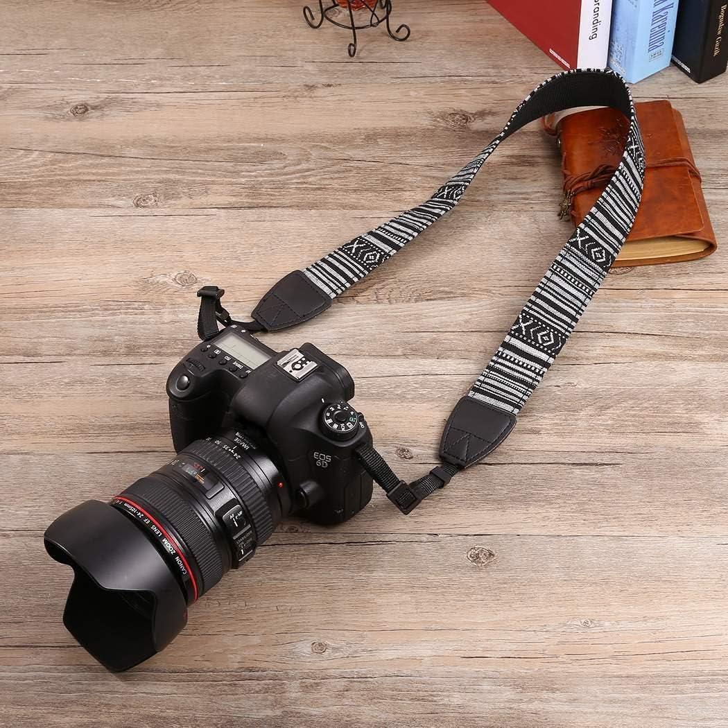 Camera /& Camcorder Straps oineke New Vintage Style Soft Multi-Color General Camcorder Camera Shoulder Strap Belt Binocular