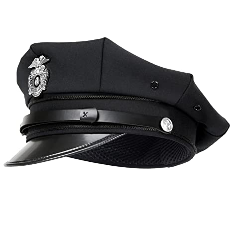 noorsk US Police Cappello Poliziotto con Distintivo  Amazon.it ... 8d8f1d5e48cb