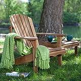 Belham Living Hampton Deluxe Oak Adirondack Chair