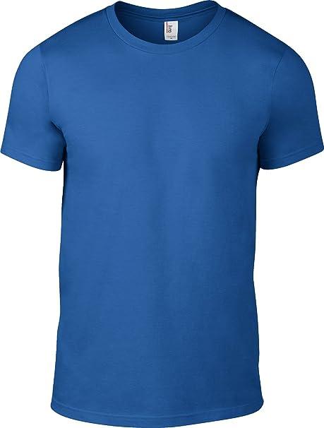 Anvil Herren T-Shirt Blau Königsblau