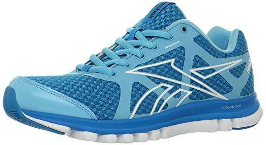 Reebok Women's Reebok SubLite Duo Run Running Shoe,Watery Blue/Far Out Blue/