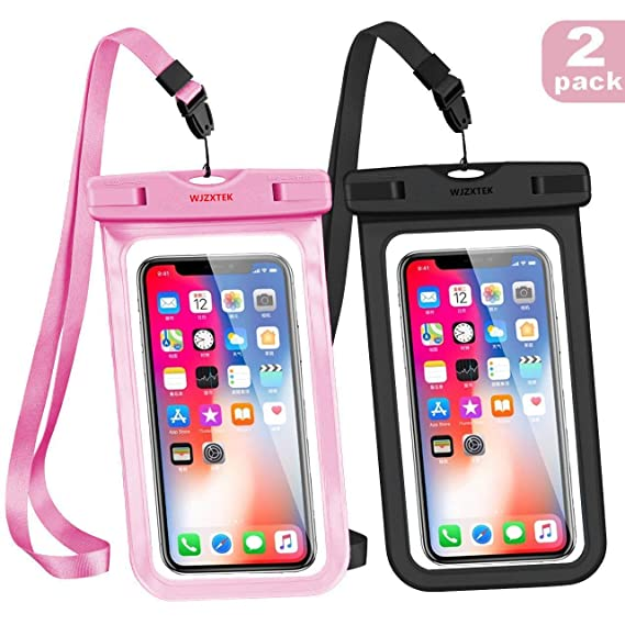 the latest 2da01 61043 WJZXTEK Waterproof Case Universal Waterproof Phone Pouch IPX8 Phone Case  Clear Sensitive PVC Screen Dry Bag for iPhone X 8 8Plus 7 7PLUS 6S Samsung  ...