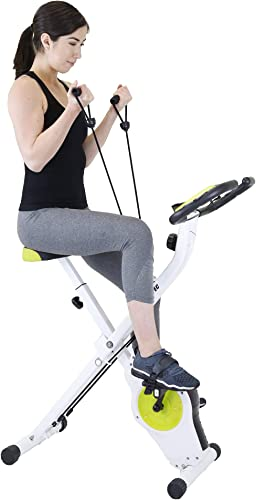 Xspec Indoor Foldable Stationary Upright Exercise Cardio Workout Cycling Bike