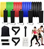 MZTDYTL Resistance Bands Set, Workout Exercise Bands with Door Anchor, Handles and Leg Ankle Straps for Men Women Home…