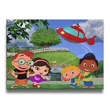 Little Einsteins Wallpaper 4 Wall Art Pictures No Frame Decorative Oil Paintings  For