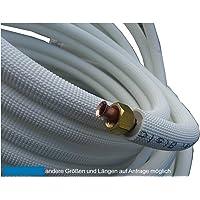 8m Kupferleitung 1/4 + 3/8 Zoll doppel Kältemittelleitung gebördelt