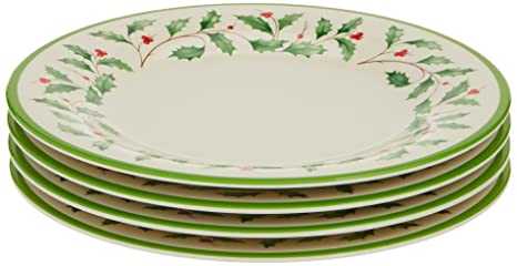 Lenox Holiday Melamine Accent Plates (Set of 4) Ivory  sc 1 st  Amazon.com & Amazon.com | Lenox Holiday Melamine Accent Plates (Set of 4) Ivory ...