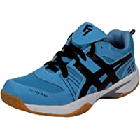Fashion7 Men's Synthetic Leather Badminton Shoes - Lightweight with Good Cushioning Traction & Grip (Royal Blue)