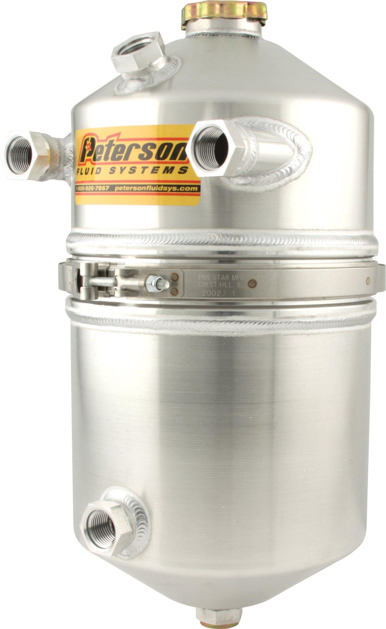 Peterson Fluid Systems 08-0012 4 Gallon Dry Sump Tank