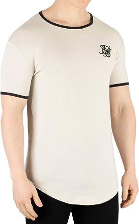 Sik Silk Hombre Camiseta Ringer Gym, Beige: Amazon.es: Ropa y accesorios