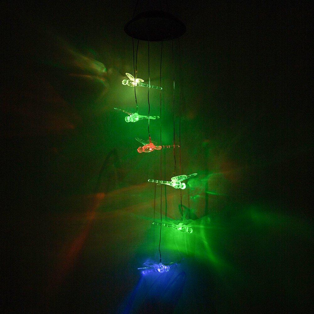 Color-Changing LED Solar Dragonfly Mobile