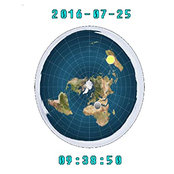 Flat Earth Map 2016.Amazon Com Flat Earth Sun Moon Clock Appstore For Android