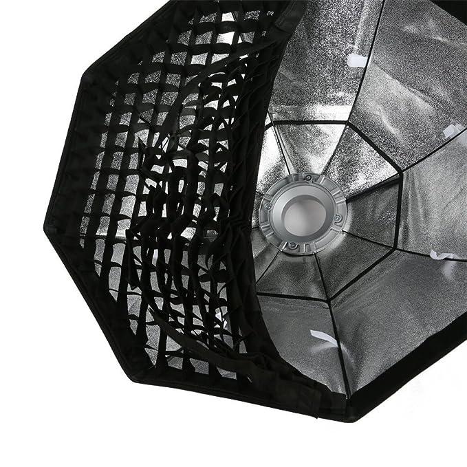 Fomito Difusor de luz con rejilla, con soporte Bowens, para estudio fotográfico, para flash Godox, Jinbei, Neewer y otras luces flash de estudio (35 x 160 ...