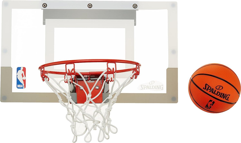 Spalding NBA (56-100Cn) Minicanasta con Pegatinas, Unisex Adulto, Transparente, Talla Única