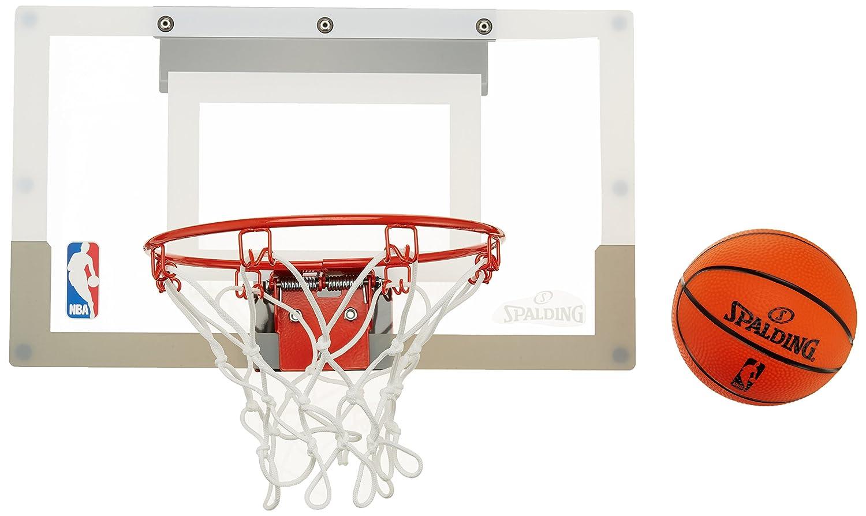 Spalding NBA (56-100Cn) Minicanasta con Pegatinas, Transparente, Única 300166101