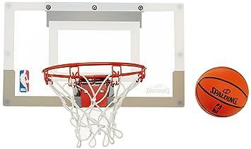 cbfb8d6c4a9fb SPALDING - Mini Panier Basket NBA - Mini Ballons inclus - Maison ou Bureau  - SLAM