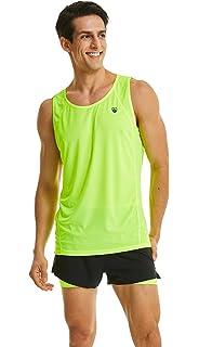 b8e9c224146eb Leevy Running Singlet for Men Ultra Lightweight Beach Tank Top Dry Fit  Sleeveless Workout Shirt