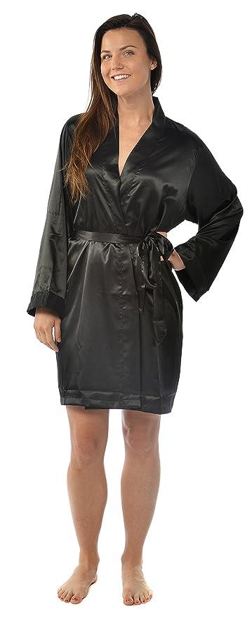 Amazon.com: leisureland Kimono de mujer de bata, color ...