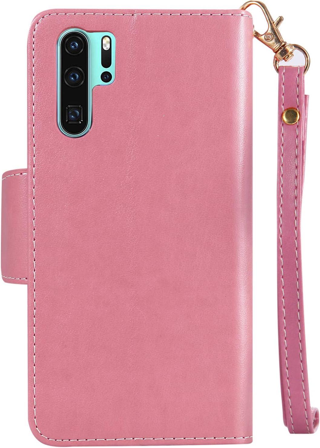 Felfy 9 Kartenf/ächer Kompatibel mit Huawei P30 Pro H/ülle,Kompatibel mit Huawei P30 Pro Case Magnetische Flip Cover PU Leder Handyh/ülle 3D M/ädchen Katze Muster Tasche Multifunktion Schutzh/ülle,Blau
