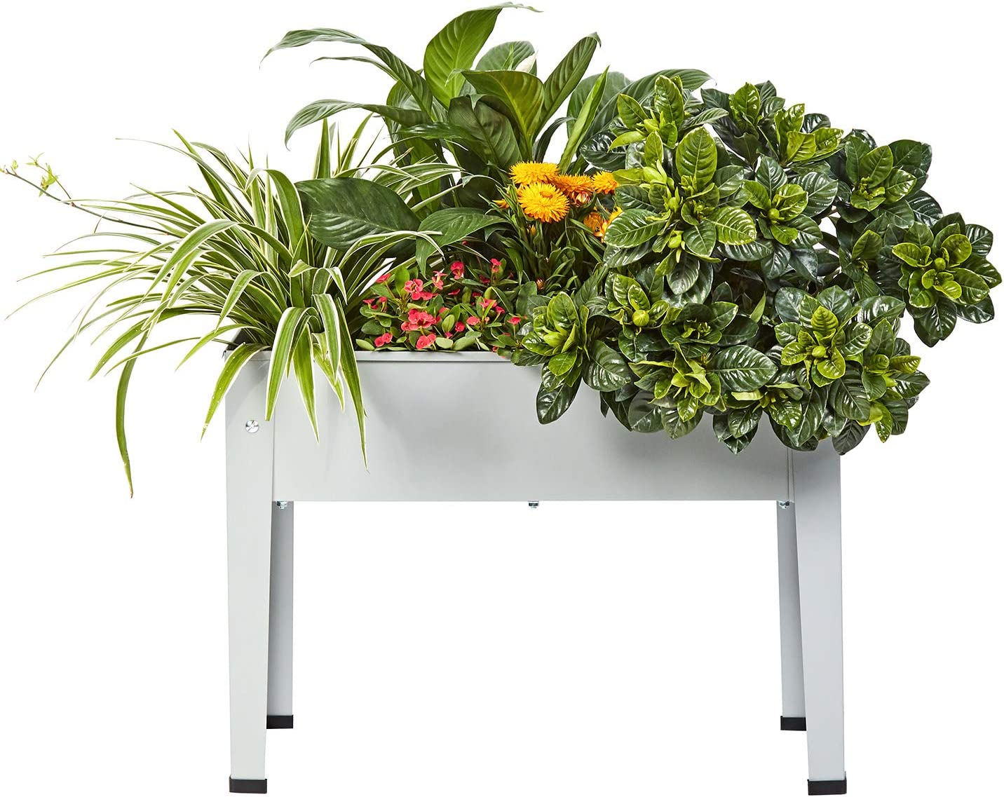 Raised Metal Garden Planter Bed,Garden Planter Box,Planting Container with Legs Suitable for Outdoor Patio Planting Herbs and Vegetables (Small)