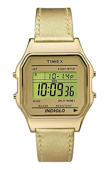 Timex Reloj Digital para Unisex de Cuarzo con Correa en Cuero TW2P76900: Amazon.es: Relojes