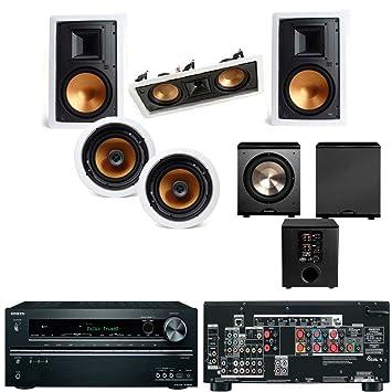klipsch in wall speakers. klipsch r-3650-wii in wall system #2 (r-5502- speakers