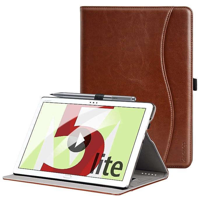 20 opinioni per Ztotop Custodia per Huawei Mediapad M5 Lite 10, Cuoio Premium Affari Sottile