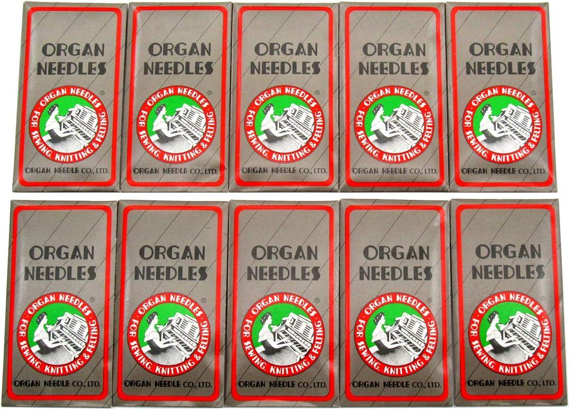 NECCHI,Brother + Organ Needle 100 PCS Organ Sewing Needles fit for Singer JANOME Organ-HAX1 14//90 100PCS Pfaff RICCAR