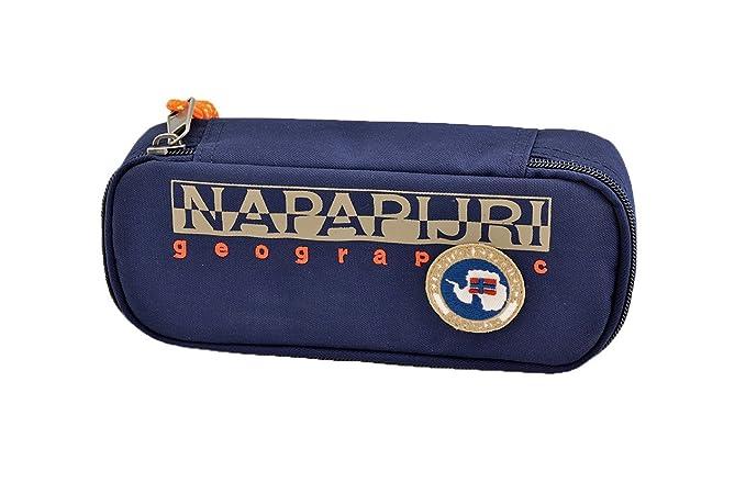 Astuccio Scuola Bustina Oval Napapijri Blu - N3Z05176  MainApps  Amazon.it   Cancelleria e prodotti per ufficio 5c9603cf967e