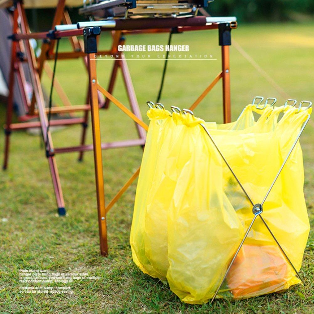 M/üllsackhalter BESTOMZ faltbarer M/üllsackhalter f/ür Camping Picnick Garten