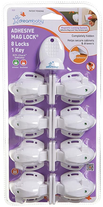 Extra Value Pack Of 12 White Dreambaby Safety Catches