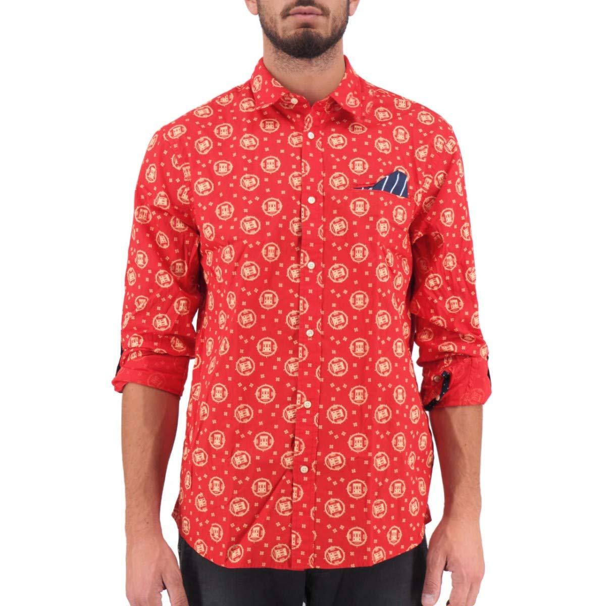 Scotch /& Soda Regular Fit-Classic all-Over Printed Pochet Shirt Camicia Uomo