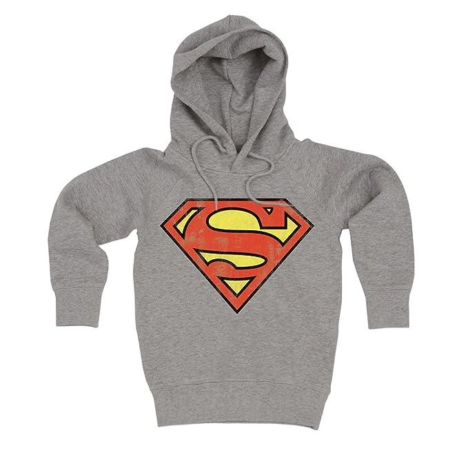 Logoshirt DC Comics - Superman Logotipo Suéter con Capucha - Sudadera con Capucha - Gris Vigoré - Diseño Original con Licencia: Amazon.es: Ropa y accesorios