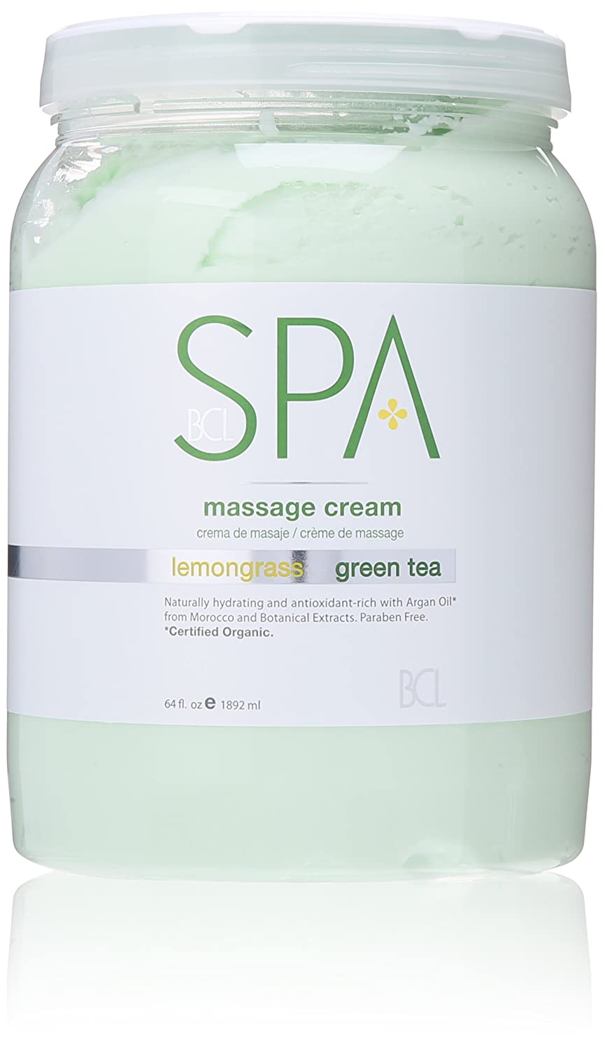 BCL Spa Lemongrass and Green Tea Massage Cream, 64 Ounce