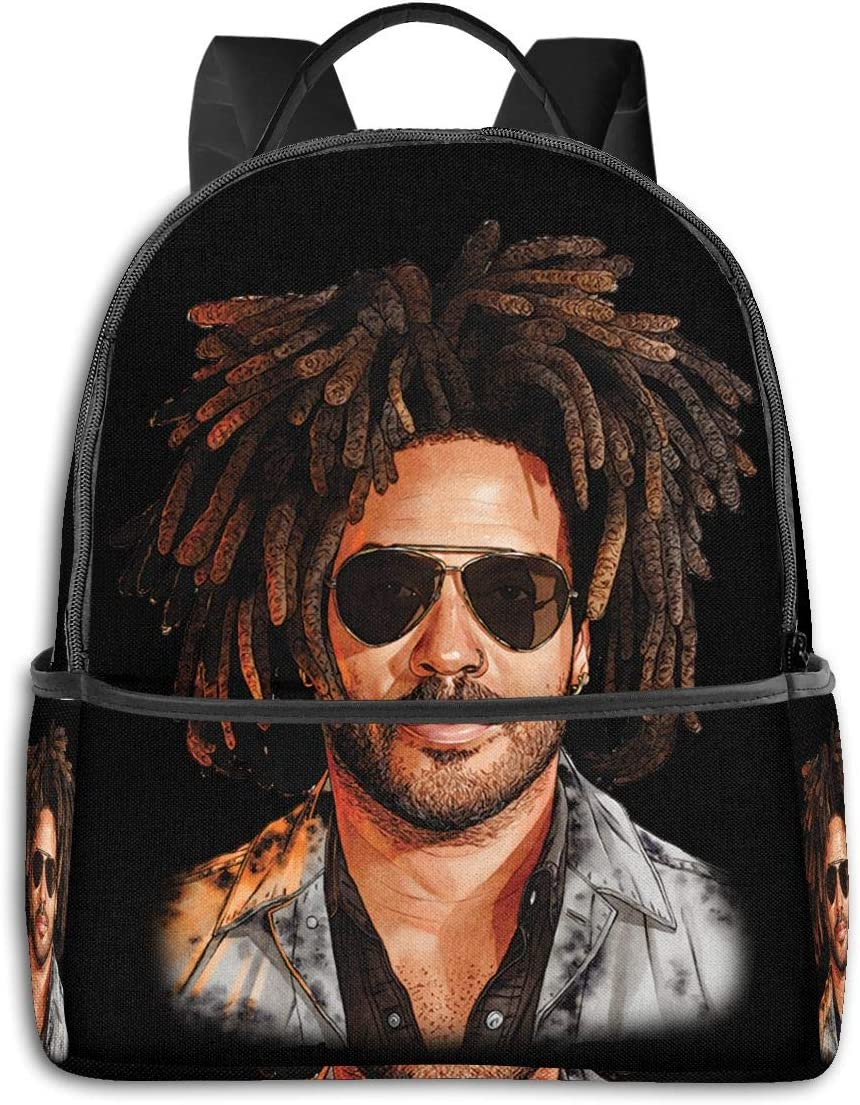 SkyeDana Lenny Kravitz Classic School Backpack Travel Backpack Casual Fashion Backpack for Men and Women