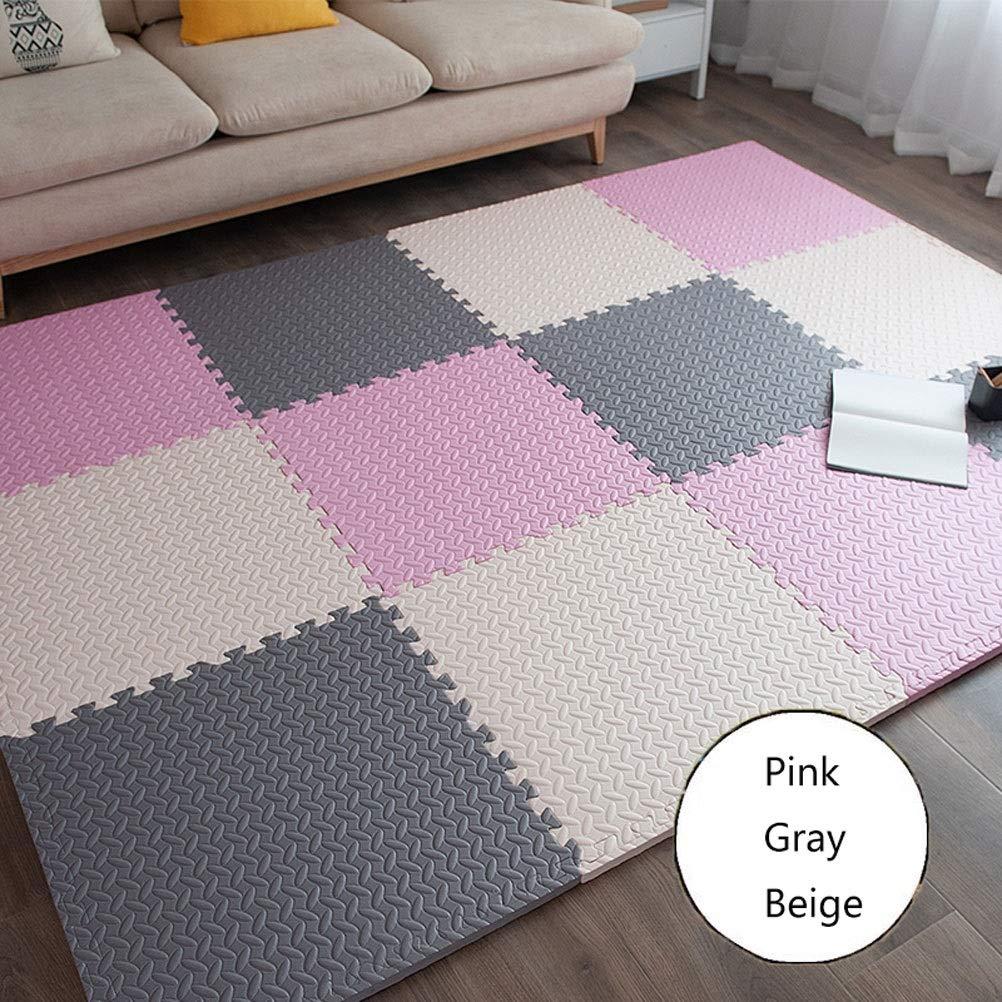 B 30X30×1.2CM(16PIECES) LUYIASI- Le tapis de puzzle de jeu de mousse de bébé d'EVA de jeu de BInterlocking exerce le tapis et le tapis de plancher pour des enfants blanket (Couleur   A, Taille   60X60X2.5CM(9 PIECES))