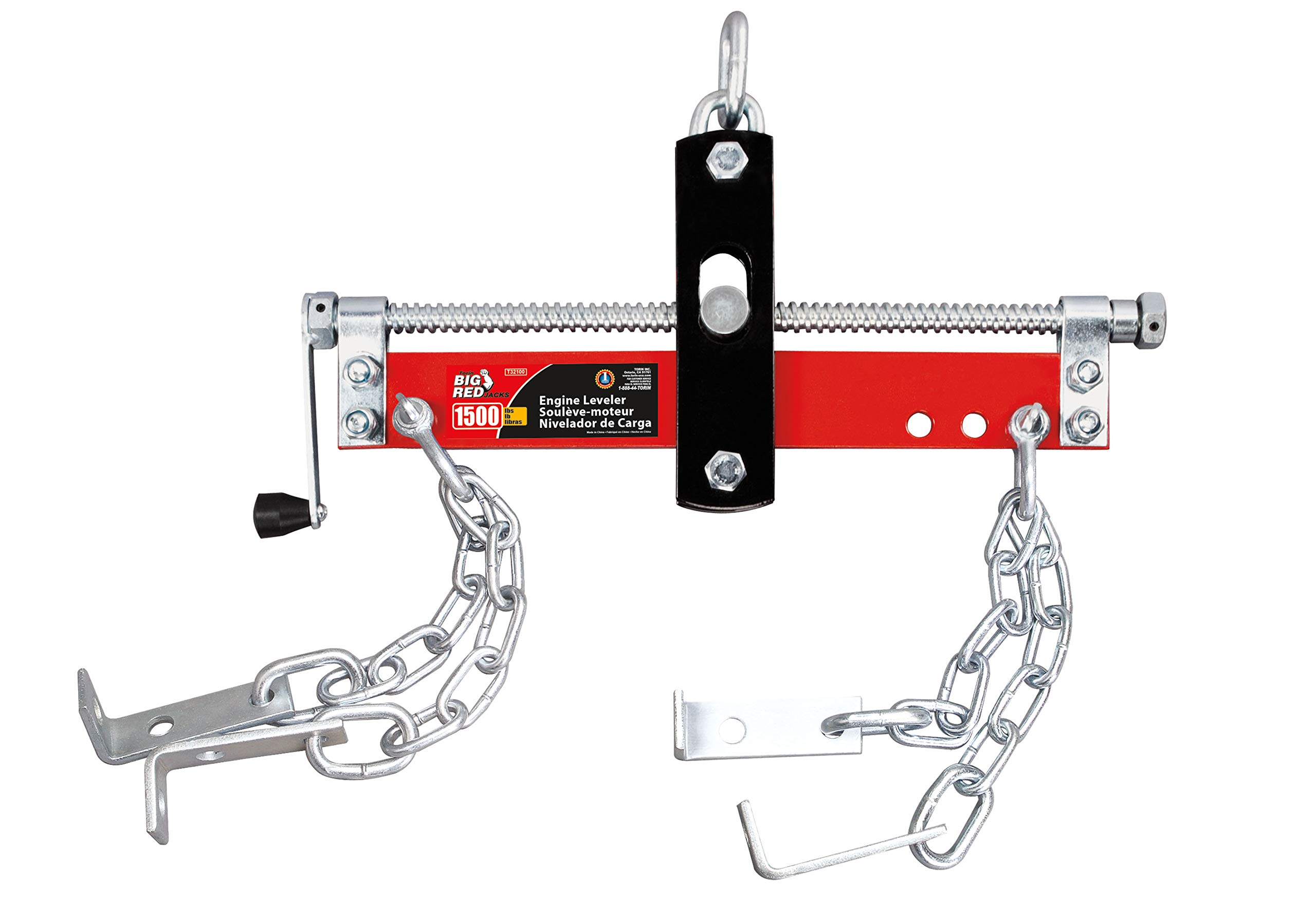 Torin Big Red Engine Hoist / Shop Crane Accessory: Steel Engine Leveler, 3/4 Ton (1,500 lb) Capacity by Torin
