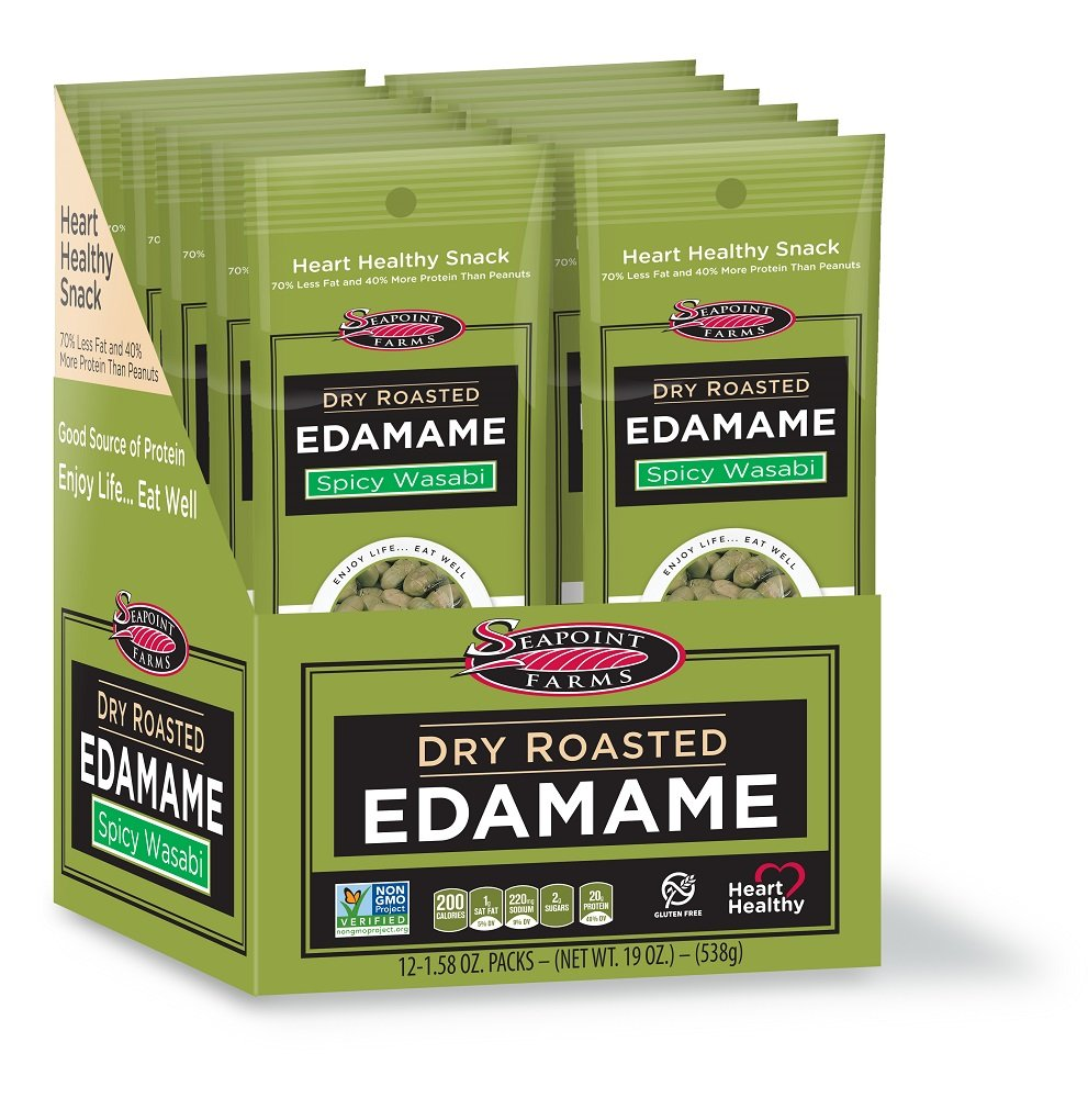 Seapoint Farms Dry Roasted Edamame - Spicy Wasabi - 1.58 OZ - 12 pk