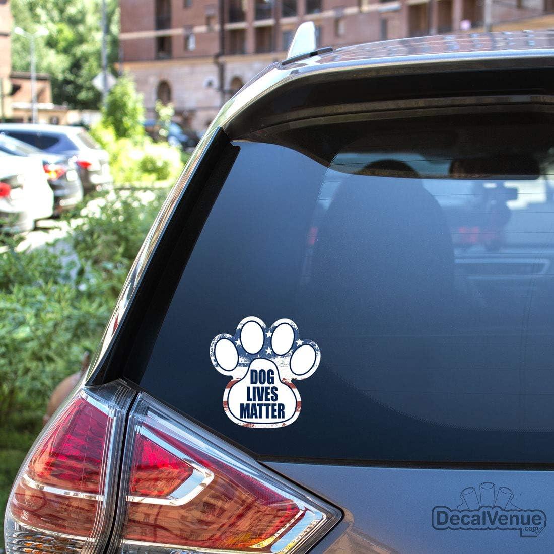 DecalVenue.com #1 Cocker Spaniel Dog Paw Print Vinyl Bumper Stickers 4 Pack