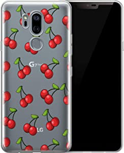Vonna Phone Case Replacement for LG G8 ThinQ G7 G6 Velvet 5G V50 V40 V35 V30 Plus V20 Cherry Soft Red Lovely Tropic Food Art Fruit Summer Smooth Print Design Flexible Silicone Cover Cute Lux a056