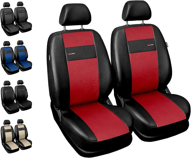 Housses Si/ège Auto Avant Voiture avec Airbag Syst/ème X-Line Gris