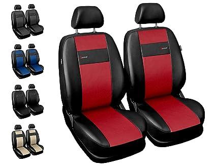 Fundas Asiento Coche Delanteros Fundas Asientos con Sistema de Airbag - X-Line Rojo