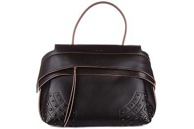 plus récent 8aa77 41e7f Tod's sac à main femme en cuir wave noir: Amazon.fr ...