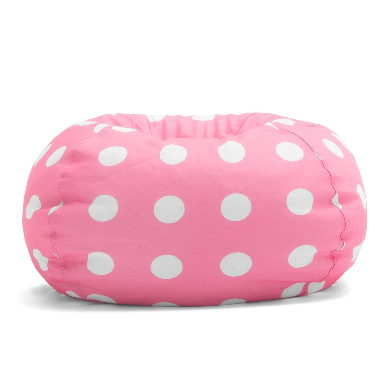 Amazon Big Joe Classic Bean Bag Chair Candy Pink Polka Dot
