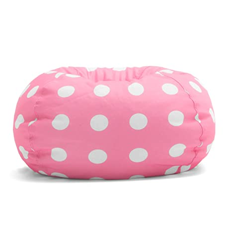 Big Joe Classic Bean Bag Chair Candy Pink Polka Dot
