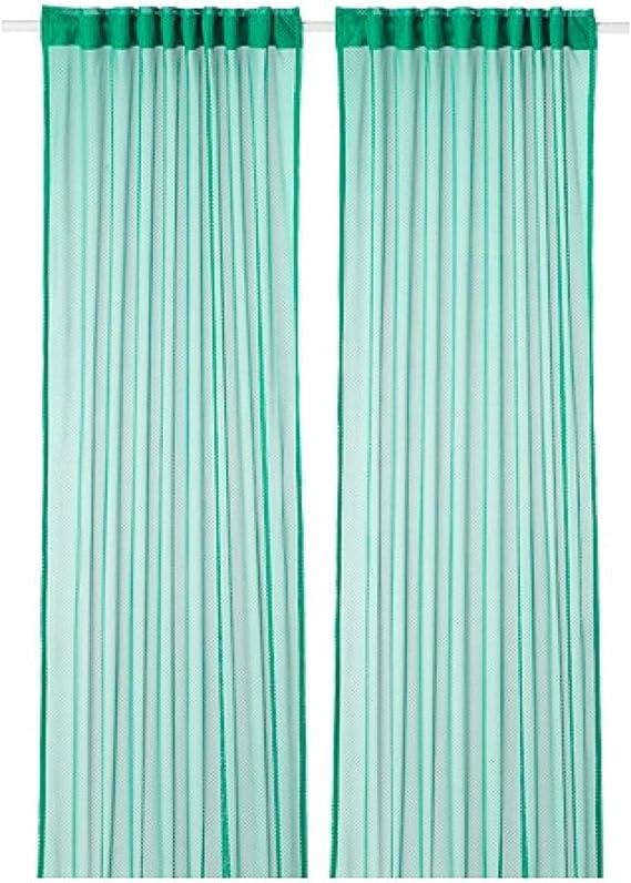 Ikea 304.280.72 - Cortinas de Encaje (57 x 98 cm), Color Verde ...