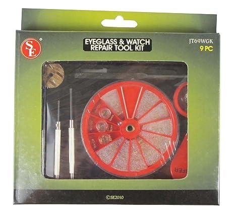 Amazon.com: SE JT69WGK Eyeglass and Watch Repair Tool Kit, 9-Piece ...